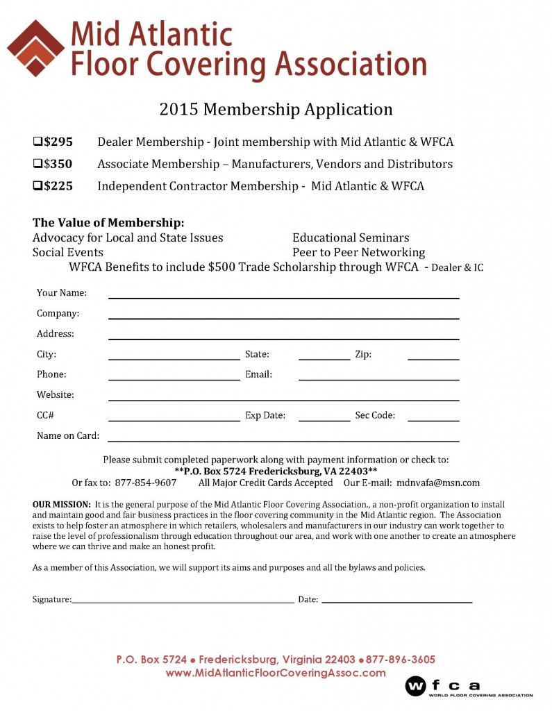 2015 Membership Application