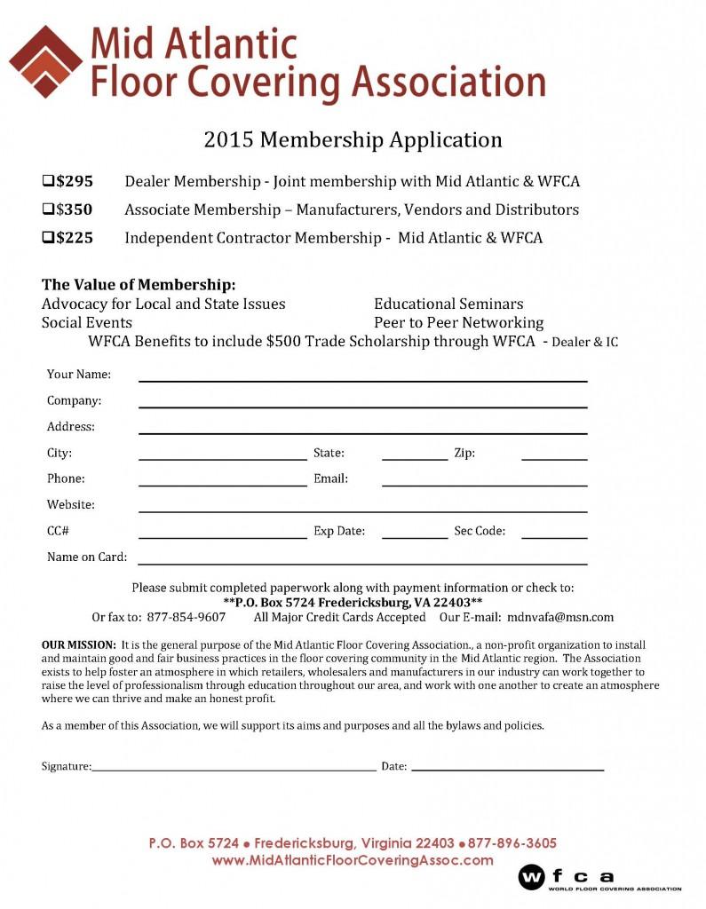 2015 Membership Application
